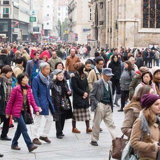 Die Wiener Innenstadt an einem Sonntagmittag.
