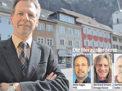 Dem Hohenemser VP-Langzeitbürgermeister Richard Amann droht eine Stichwahl.