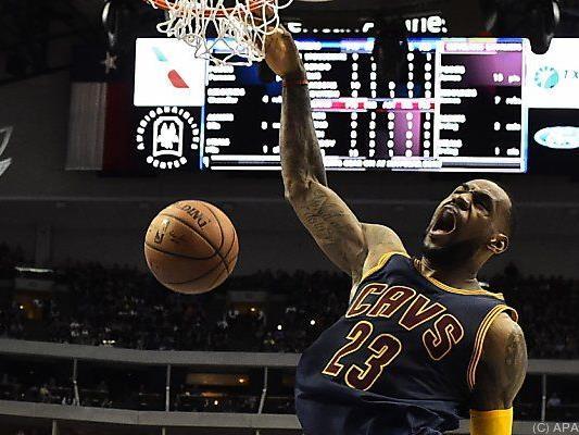 LeBron James machte, was er am besten kann: Körbe