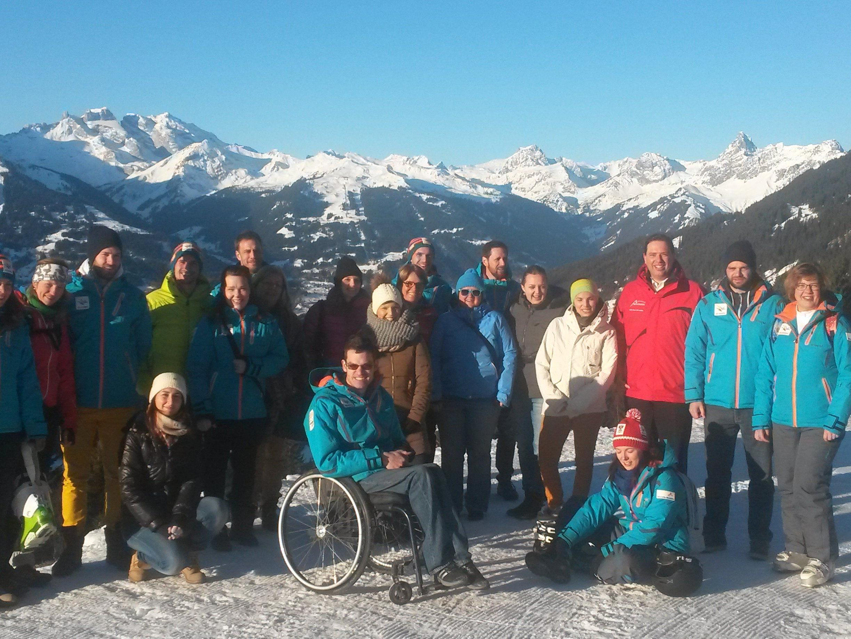 Die Teams von EYOF und Montafon Tourismus auf dem Kristberg.