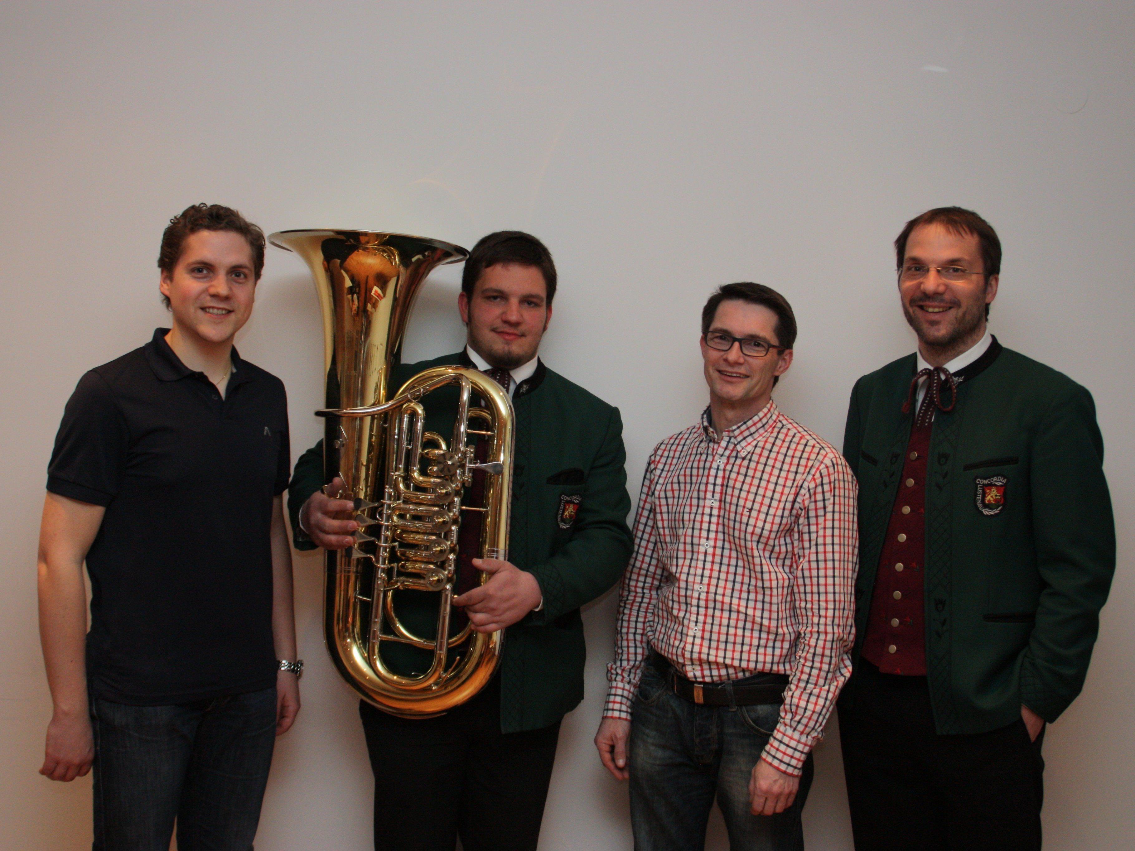 Christoph Hämmerle, Florian Bösch, Wolfgang Egger, Oliver Huber (v.links)