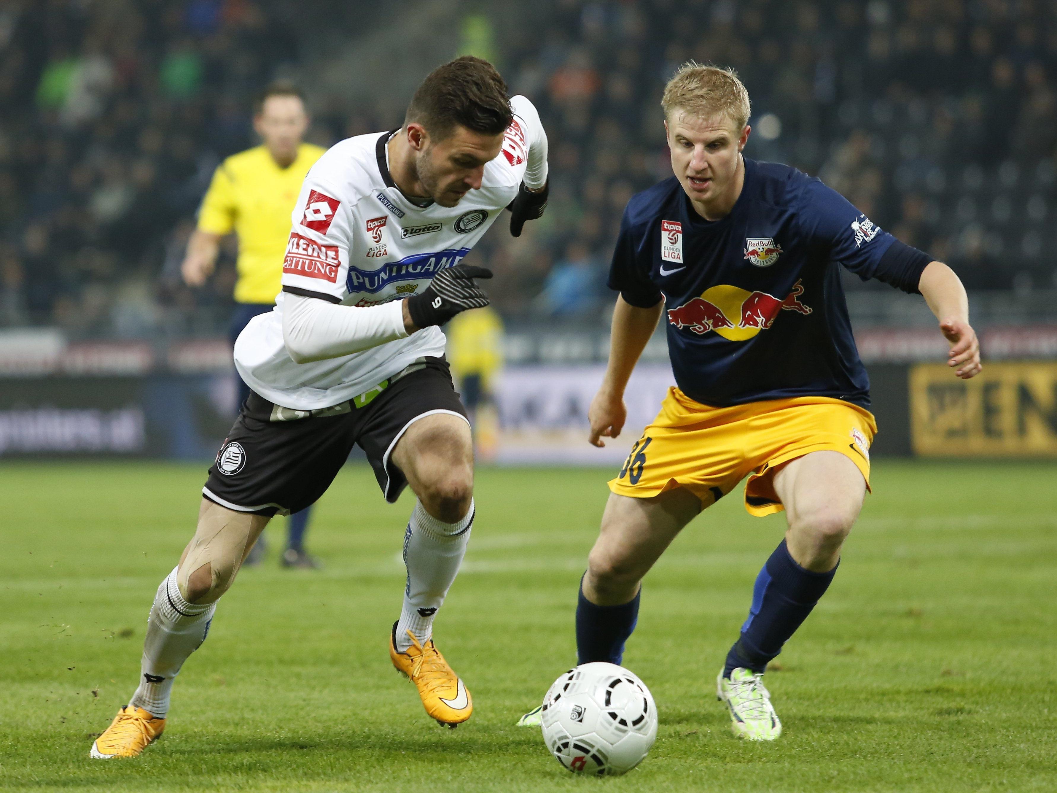 LIVE-Ticker zum Spiel SK Sturm Graz gegen Red Bull Salzburg ab 16.30 Uhr.