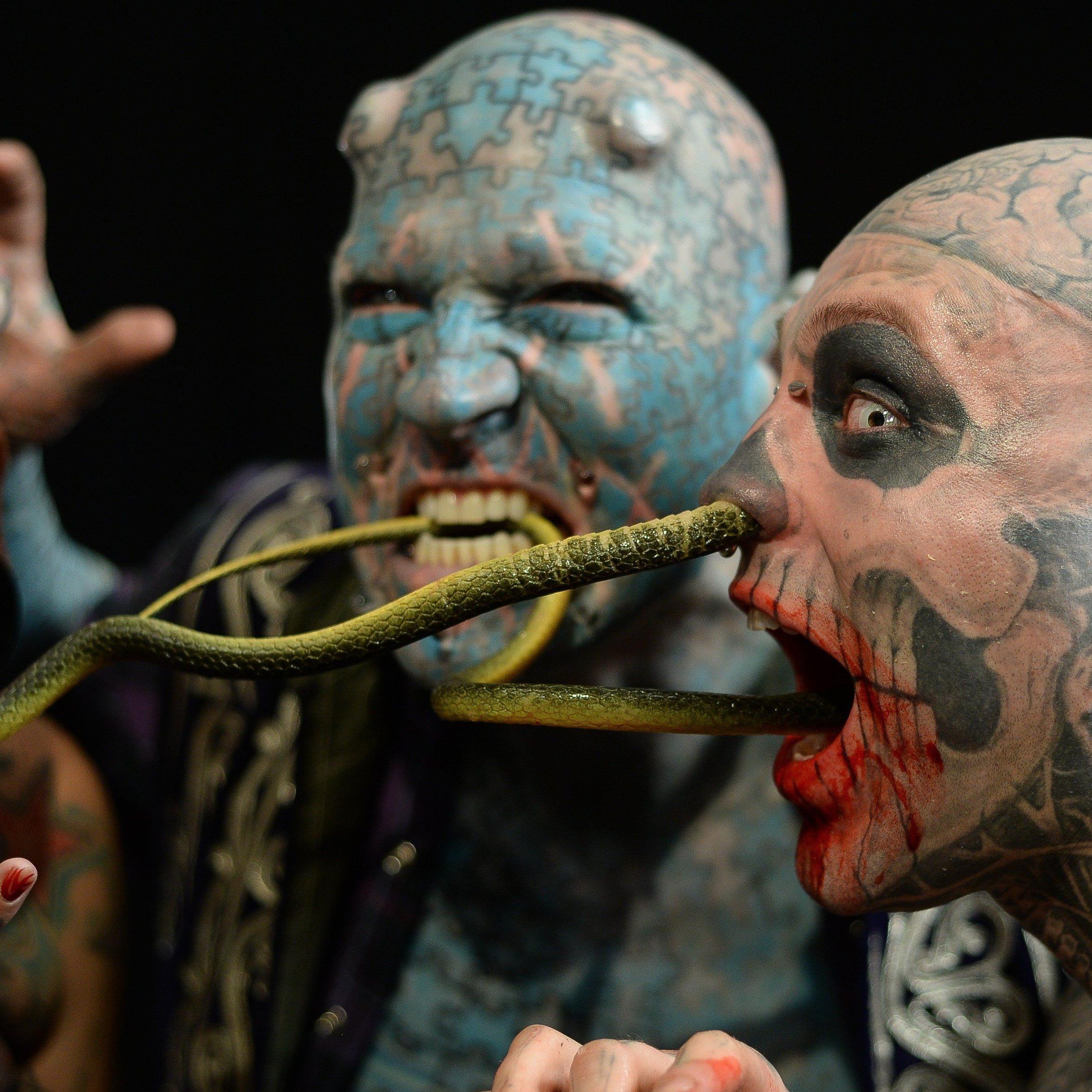 The Mexican Vampire Woman, Enigma und Zombie Boy feiern einen äußerst bunten Geburtstag