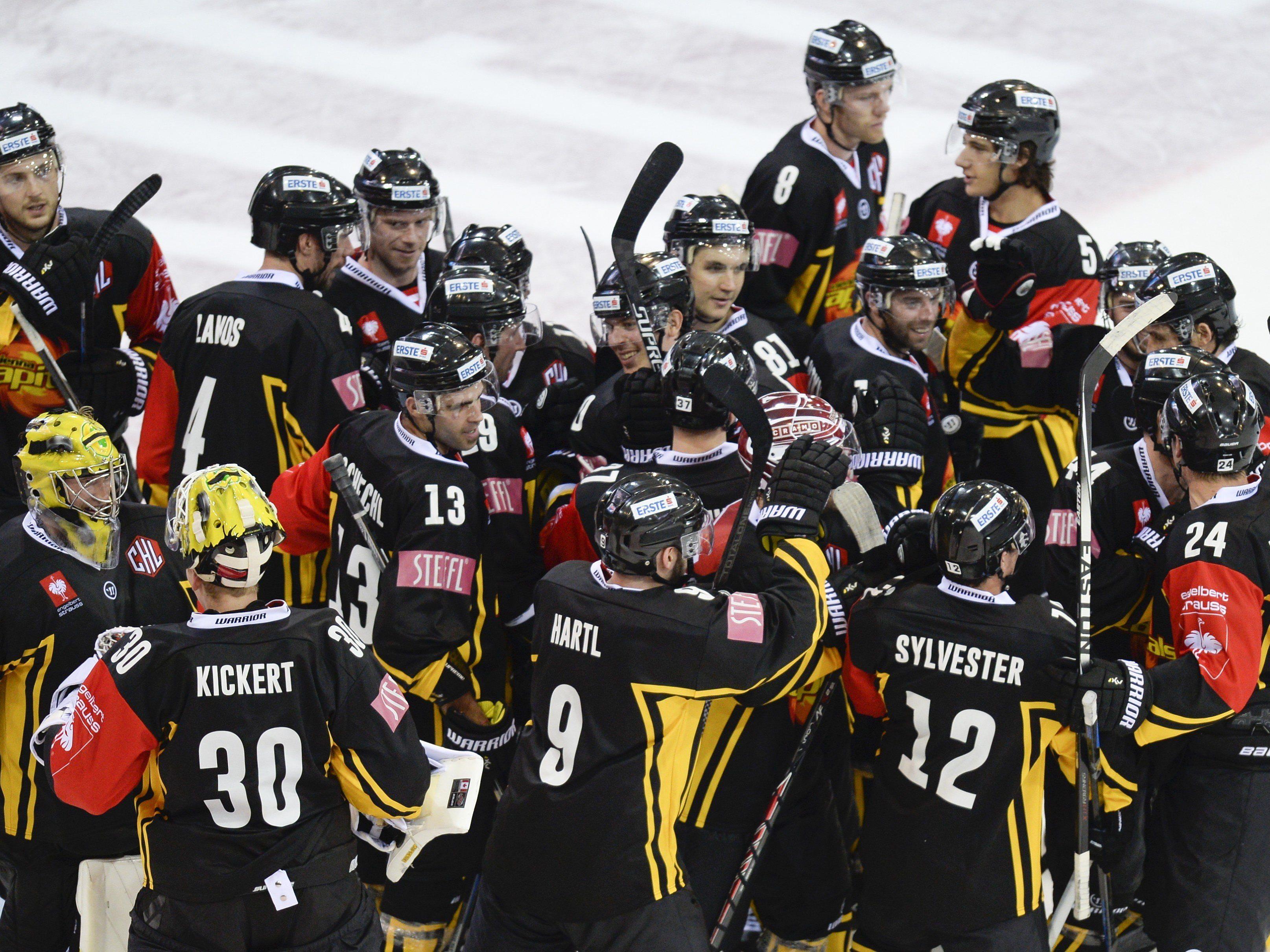 Vienna Capitals konnten in der best-of-seven-Reihe erstmals anschreiben.