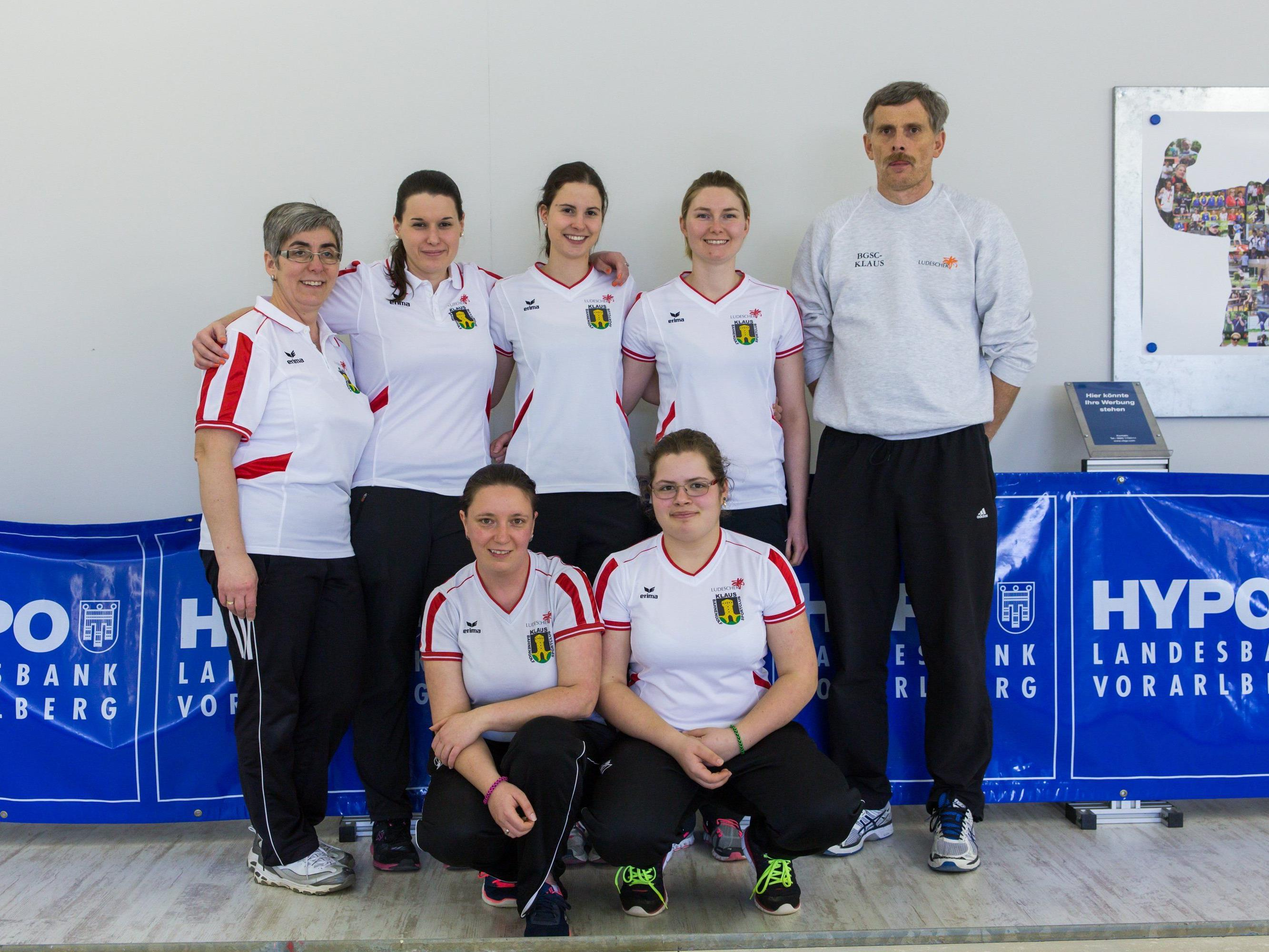 Die Damenmannschaft des BGSC Klaus.
