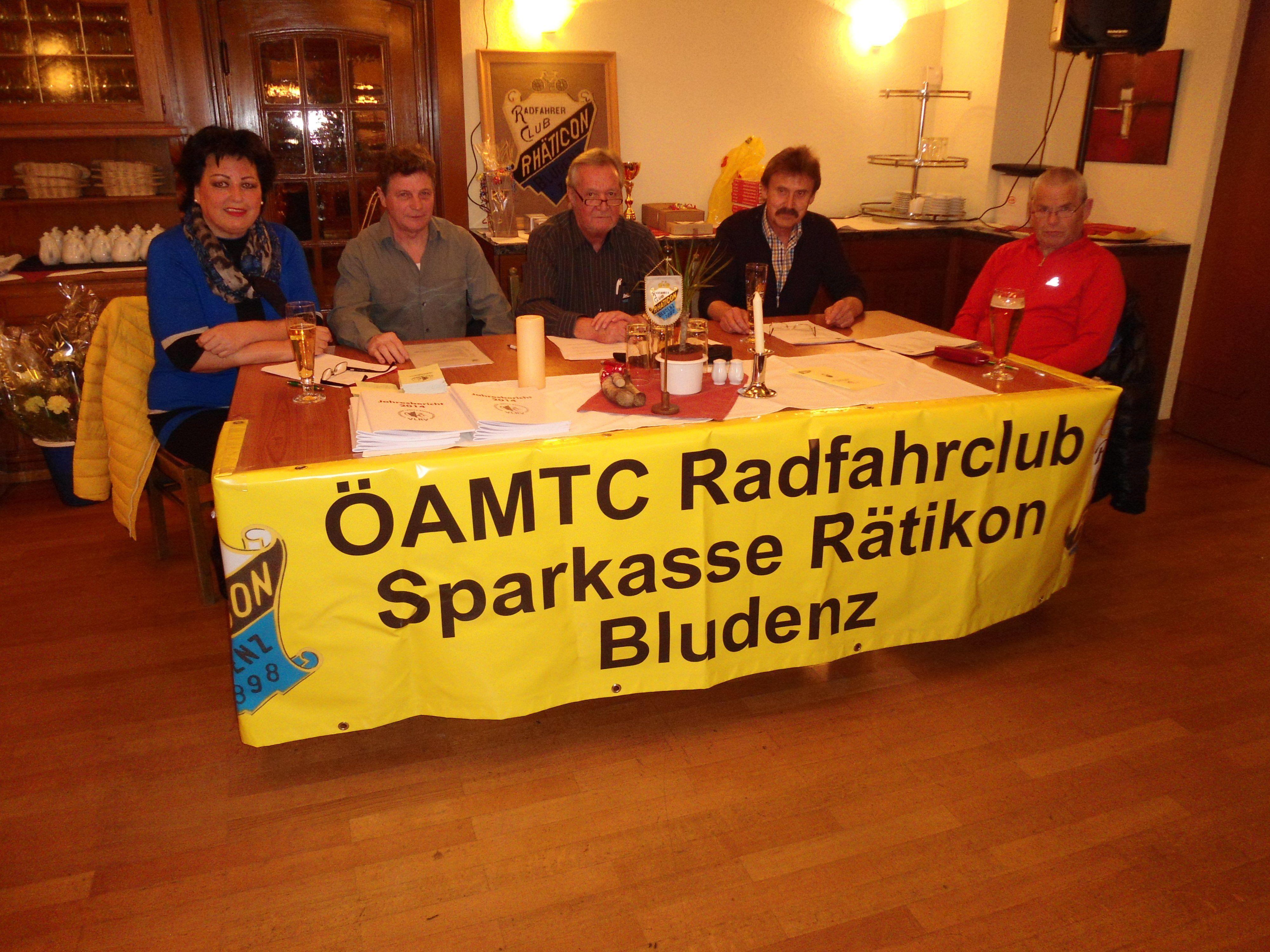 Das Präsidium des Radfahrclubs zog eine positive Bilanz.