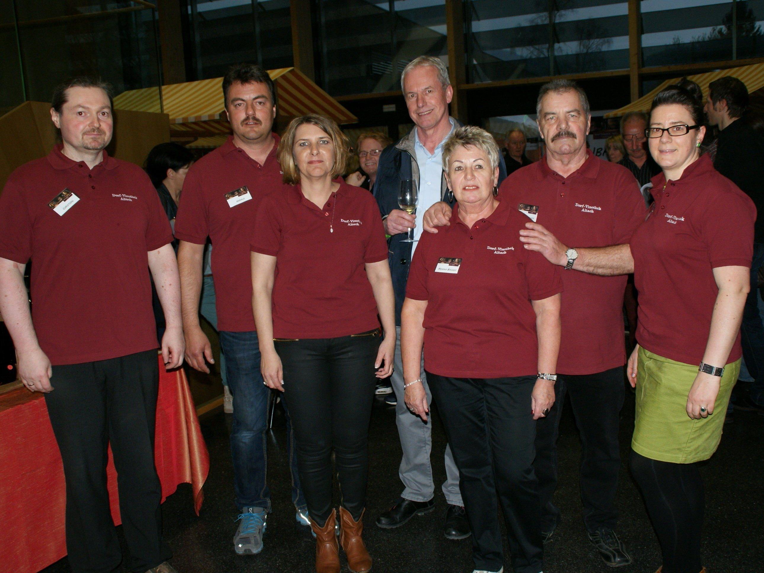 Das Team der Altacher Vinothek