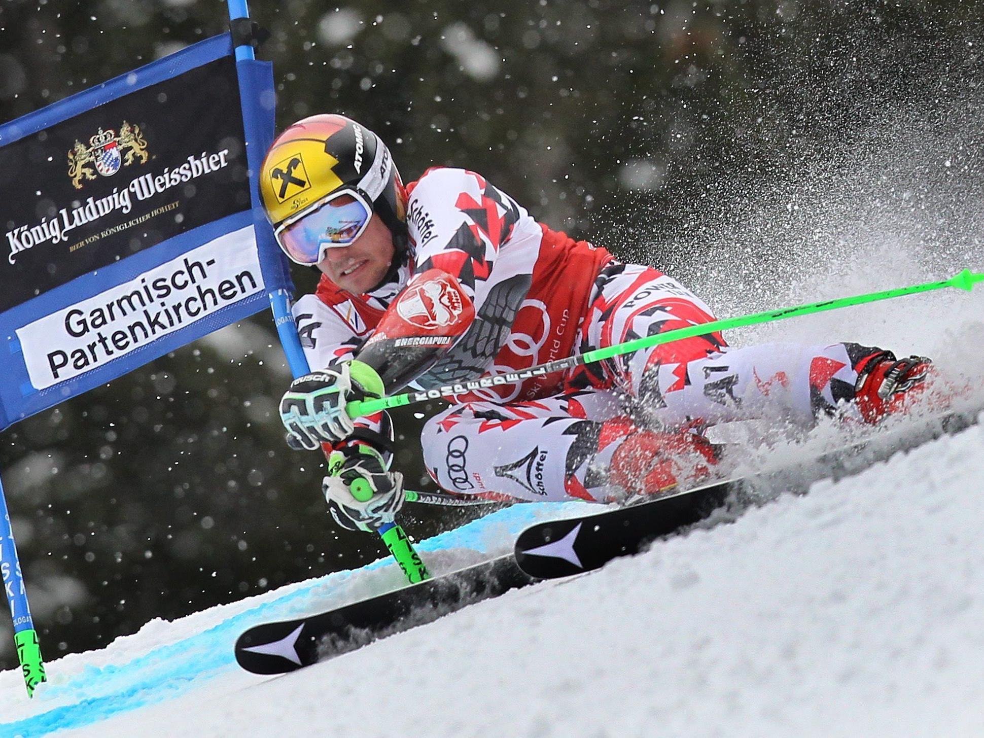Marcel Hirscher siegt im Garmisch-RTL mit unglaublichen 3,28 Sekunden Vorsprung.