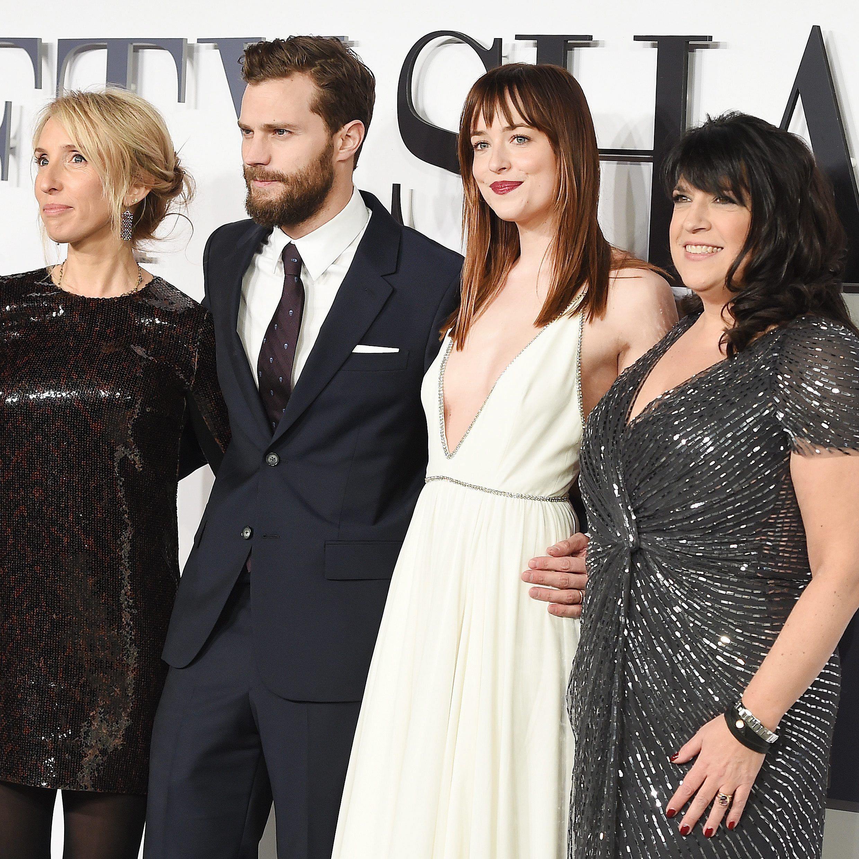 Das Erfolgsquartett: Regisseurin Sam Taylor-Johnson, Jamie Dornan, Dakota Johnson und Erfolgsautorin E. L. James.