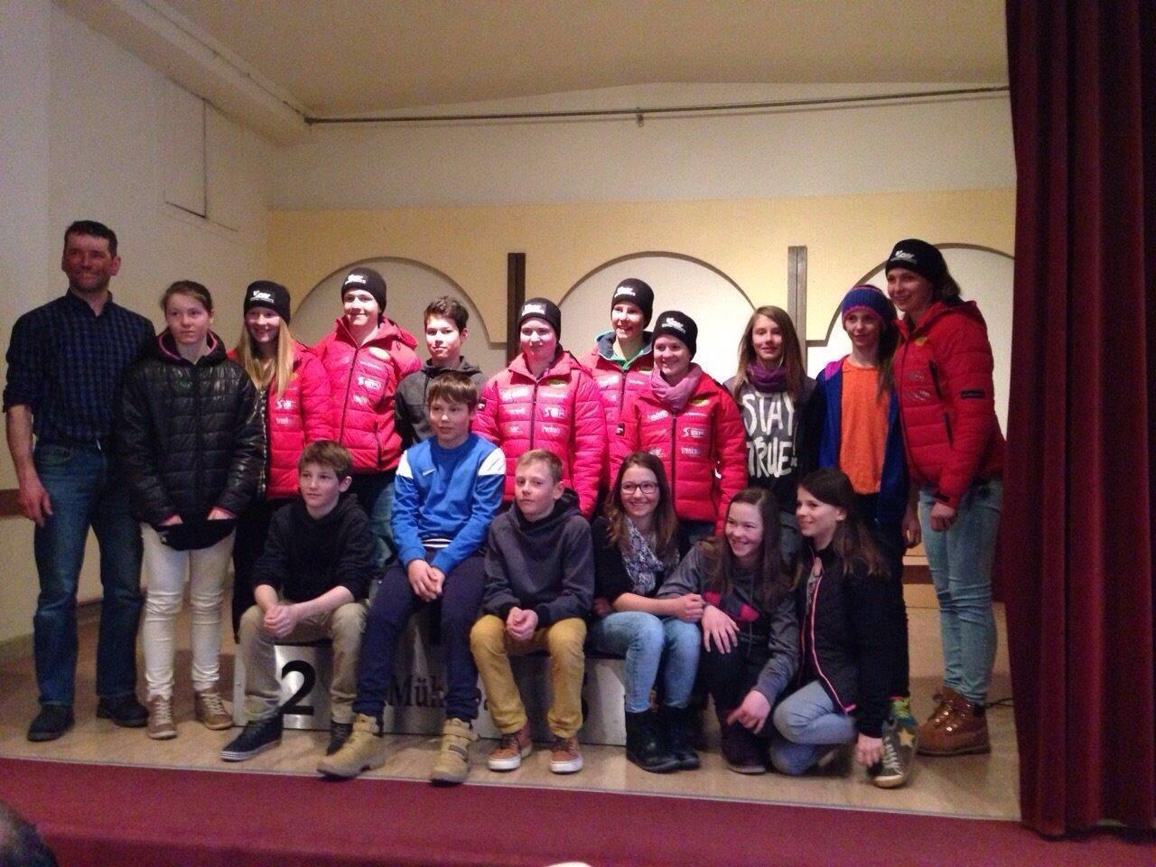 Die Mannschaft des SCBW mit Trainer Martin Muxel