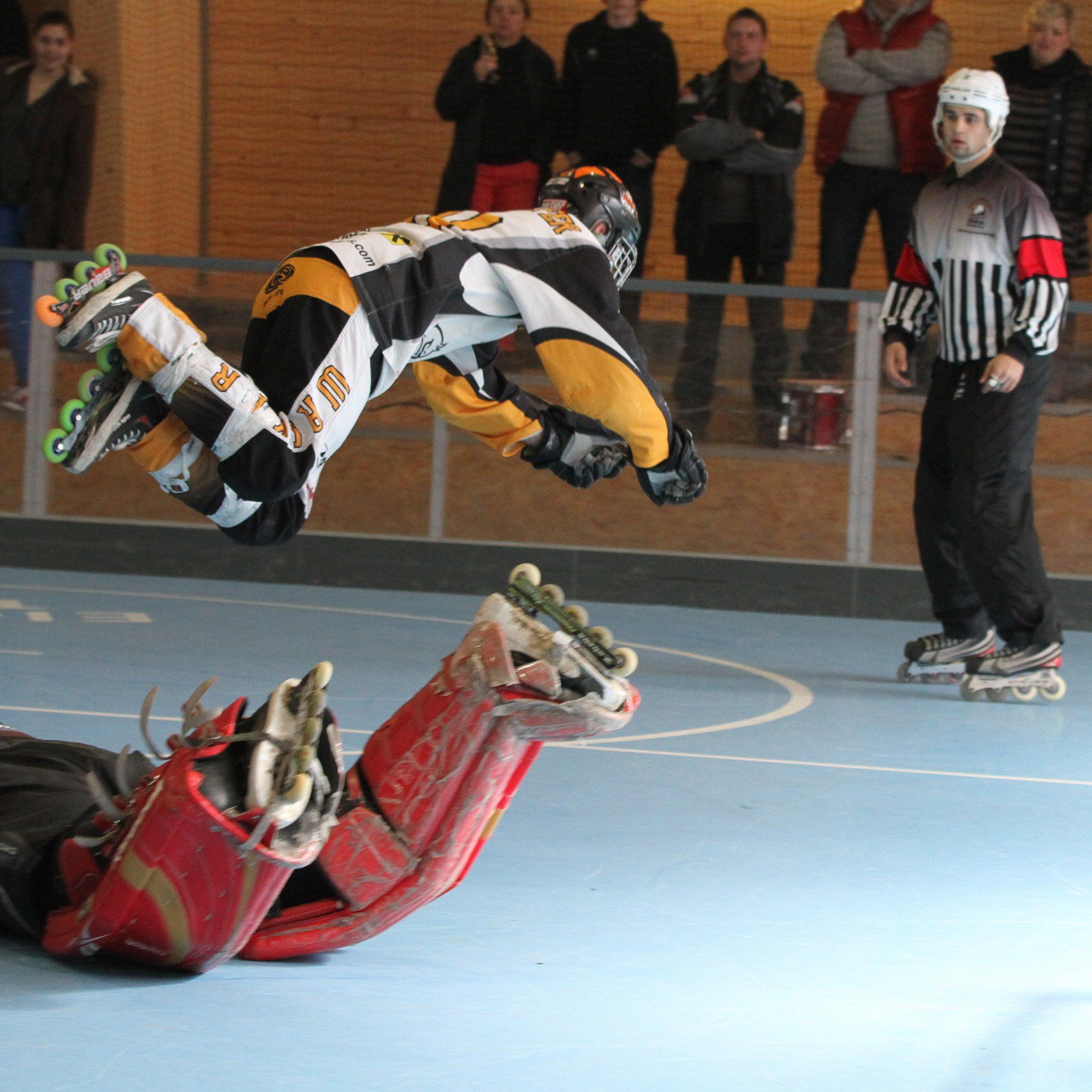 Jede Menge Action beim internationalen Inlinehockey-Turnier in Wolfurt.