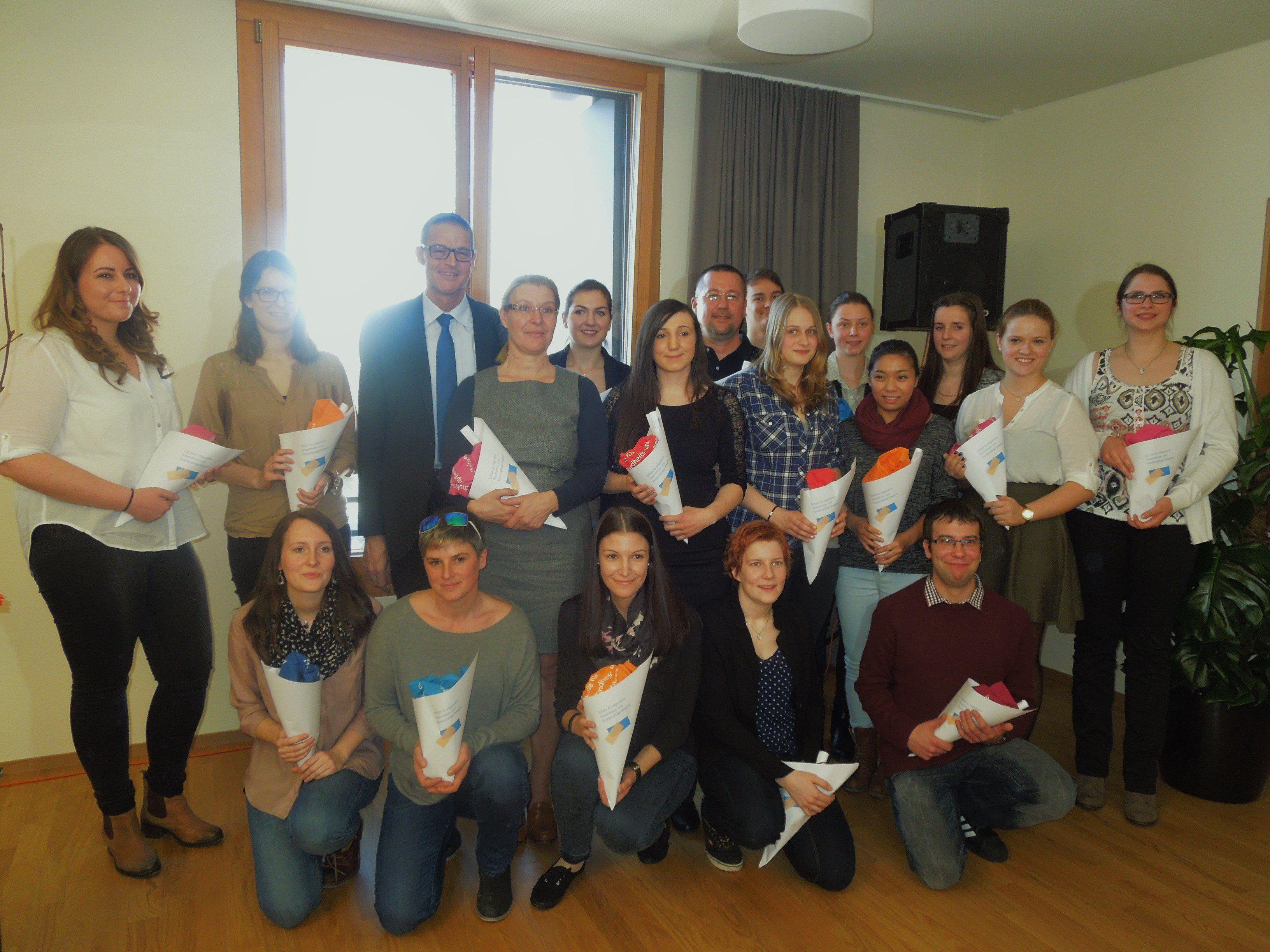 20 neue Pflegefachkräfte werden seit dieser Woche in der neuen Außenstelle der Krankenpflegeschule in Dornbirn ausgebildet.