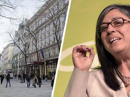 Maria Vassilakou hätte gern noch mehr Flaniermeilen wie die neu Mariahilfer Straße
