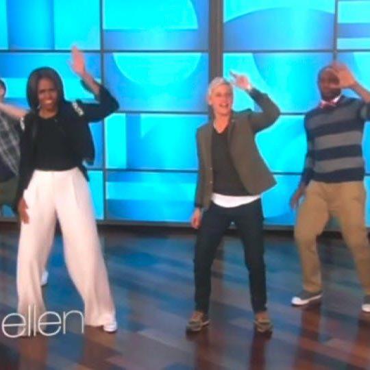"""n der US-Fernsehshow """"Ellen"""" schwang die First Lady das Tanzbein."""