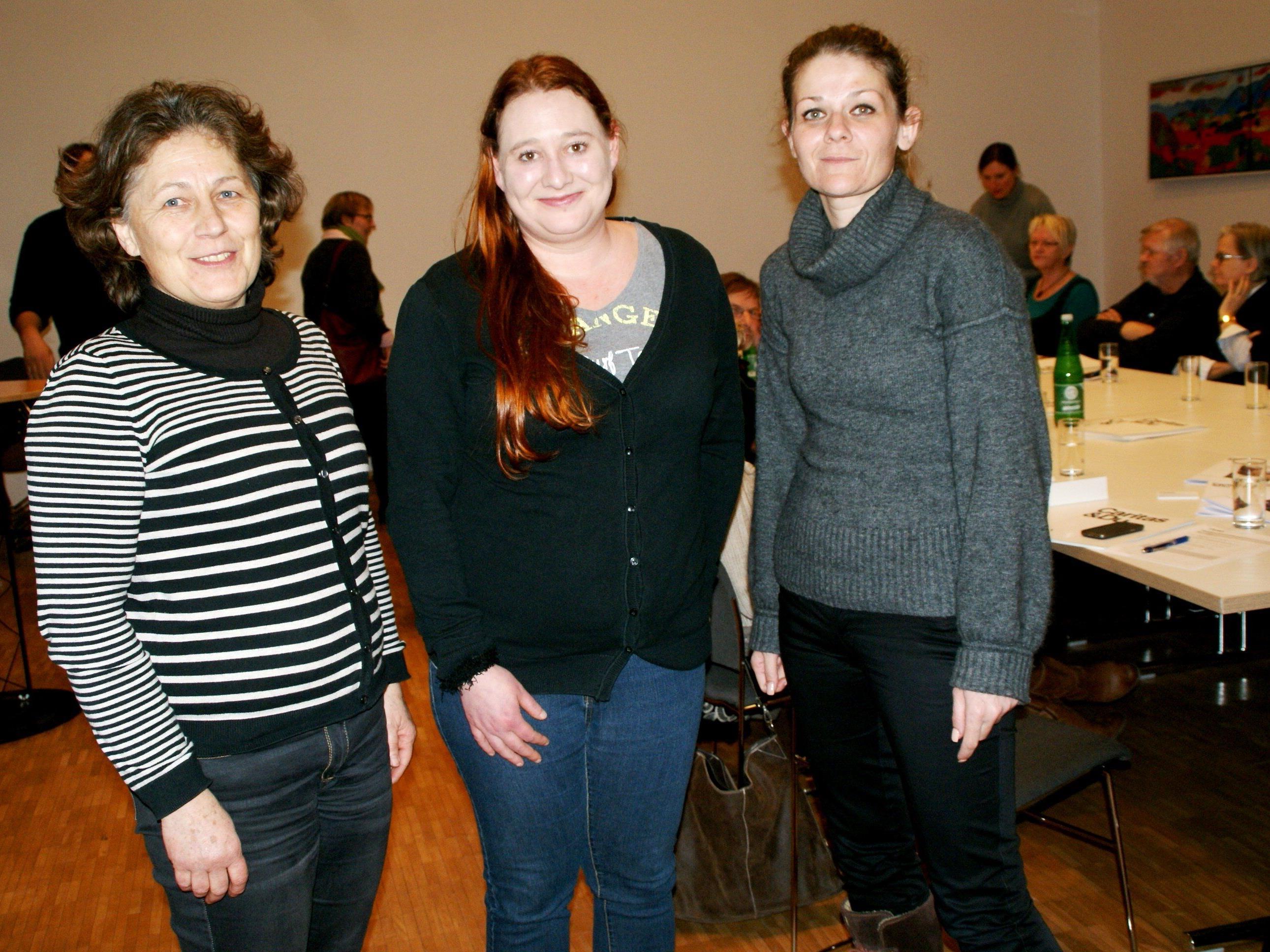 v.li. Elisabeth Meusburger, Claudia Wohlgenannt, Denka Mujkanovic-Subasic