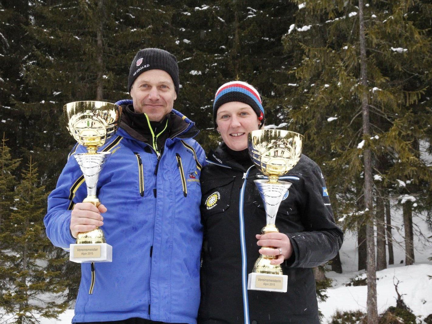 Die Vereinsmeister 2015: Günther Loretz und Anja Schober
