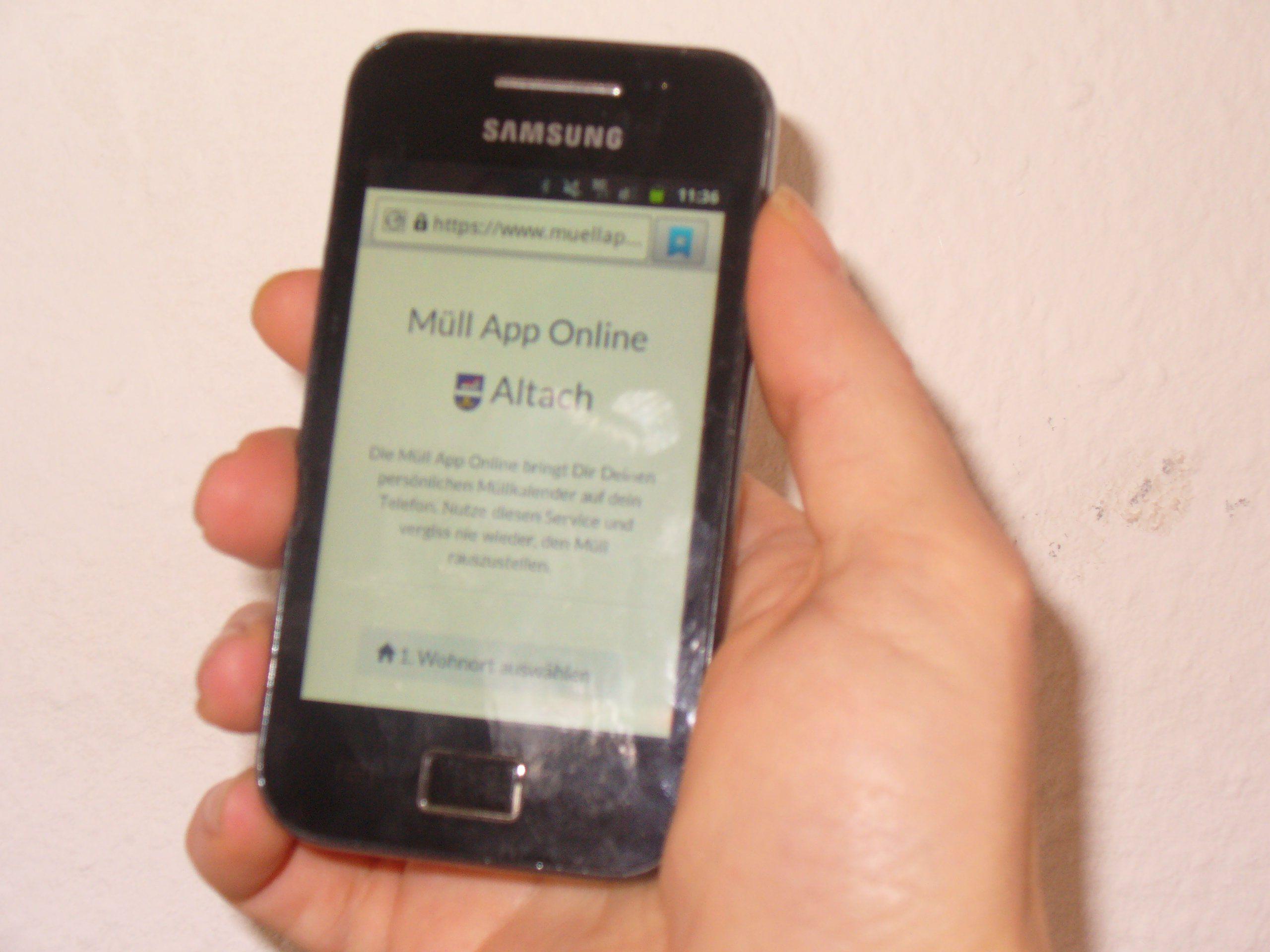 Die Müll-App erinnert an die Abholtermine