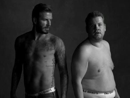 David Beckham und James Corden sorgen mit einer Unterwäsche-Parodie für Begeisterung.