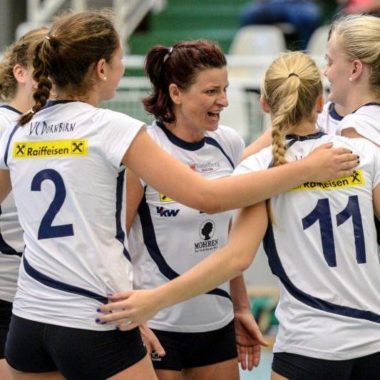 VC Dornbirn Frauen spielen diesmal in Wolfurt ihr Bewerbsspiel.