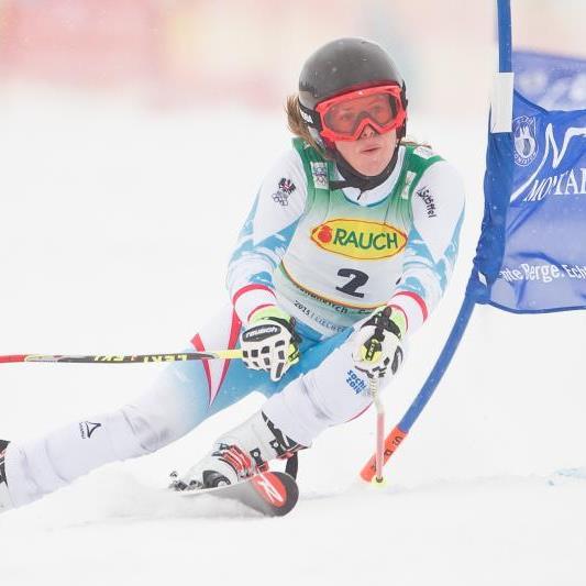 Katharina Liensberger holt ÖM Silber in der Kombination.