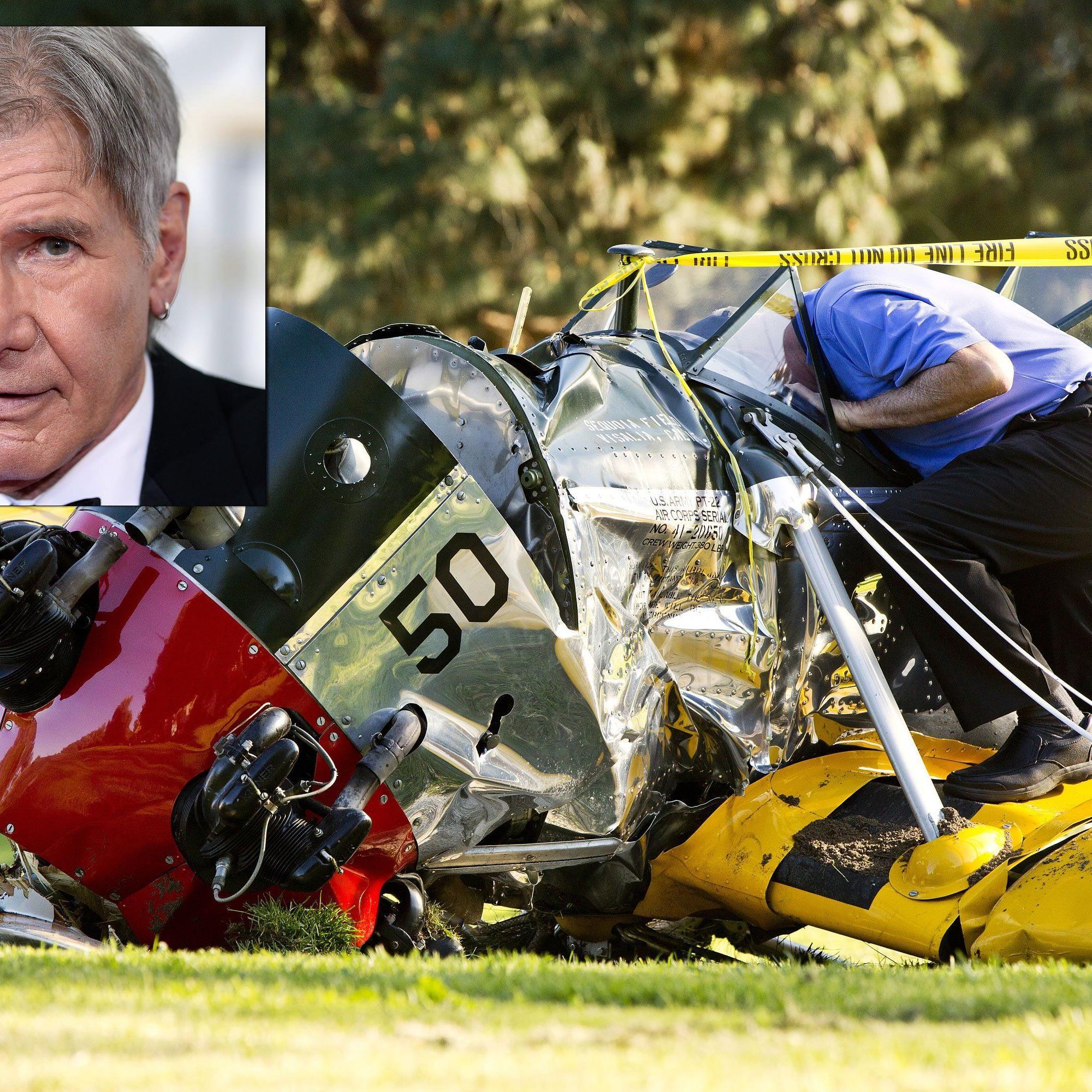 """Bruchlandung für """"Indiana Jones"""": Harrison Ford nach Flugzeugabsturz verletzt."""