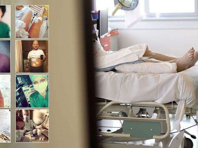 """Patienten-Selfies"" quer durch alle Vorarlberger Krankenhäuser."