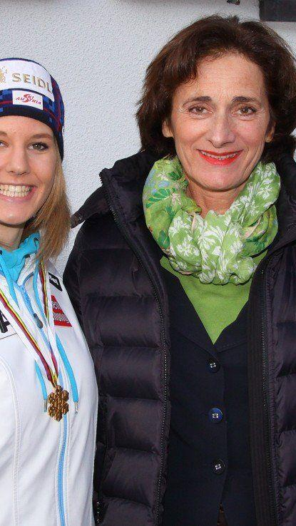 Weltmeisterin Lisl Kappaurer im Slalom auf Rang 16.