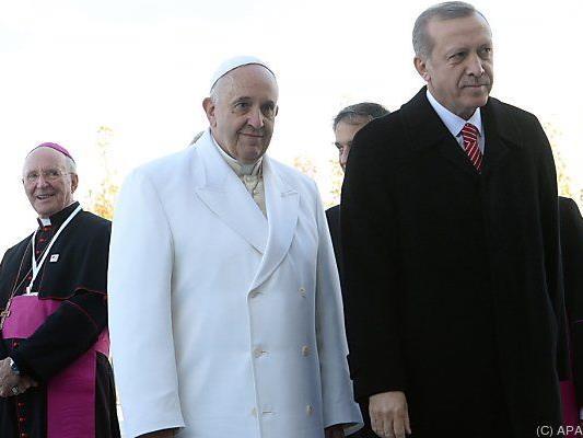 Erdogan sauer auf Franziskus