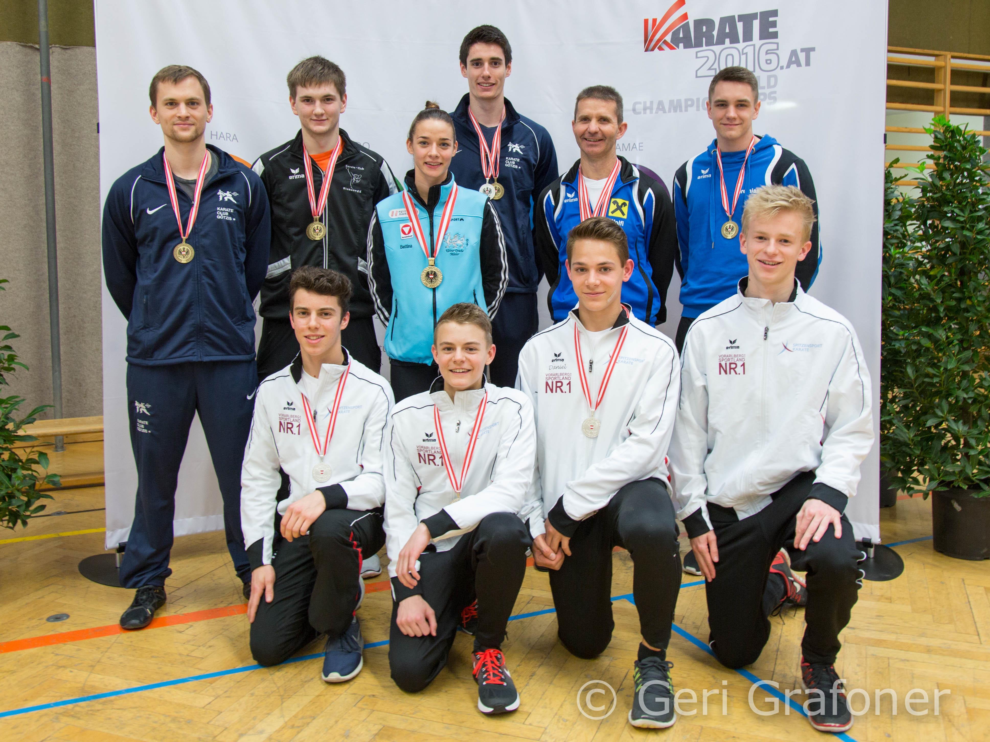 Alle Medaillengewinner bei den nationalen Titelkämpfen