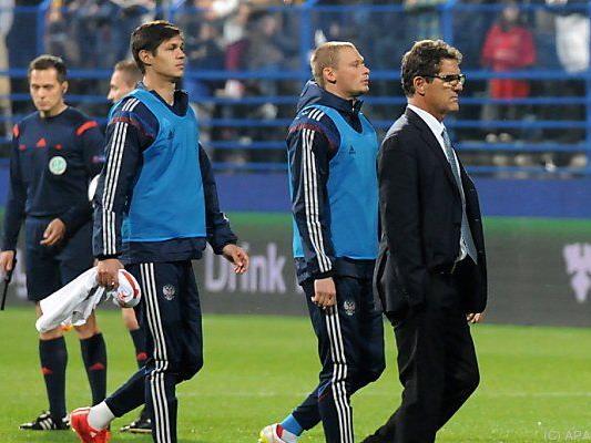 Russland-Coach Capello kann sich über drei Punkte freuen