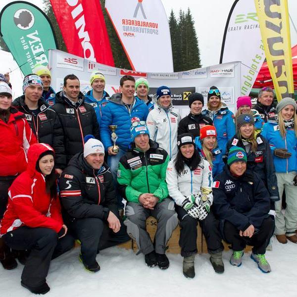 Viele ÖSV-Skistars und Promis geben sich in Damüls für Björn Sieber die große Ehre.