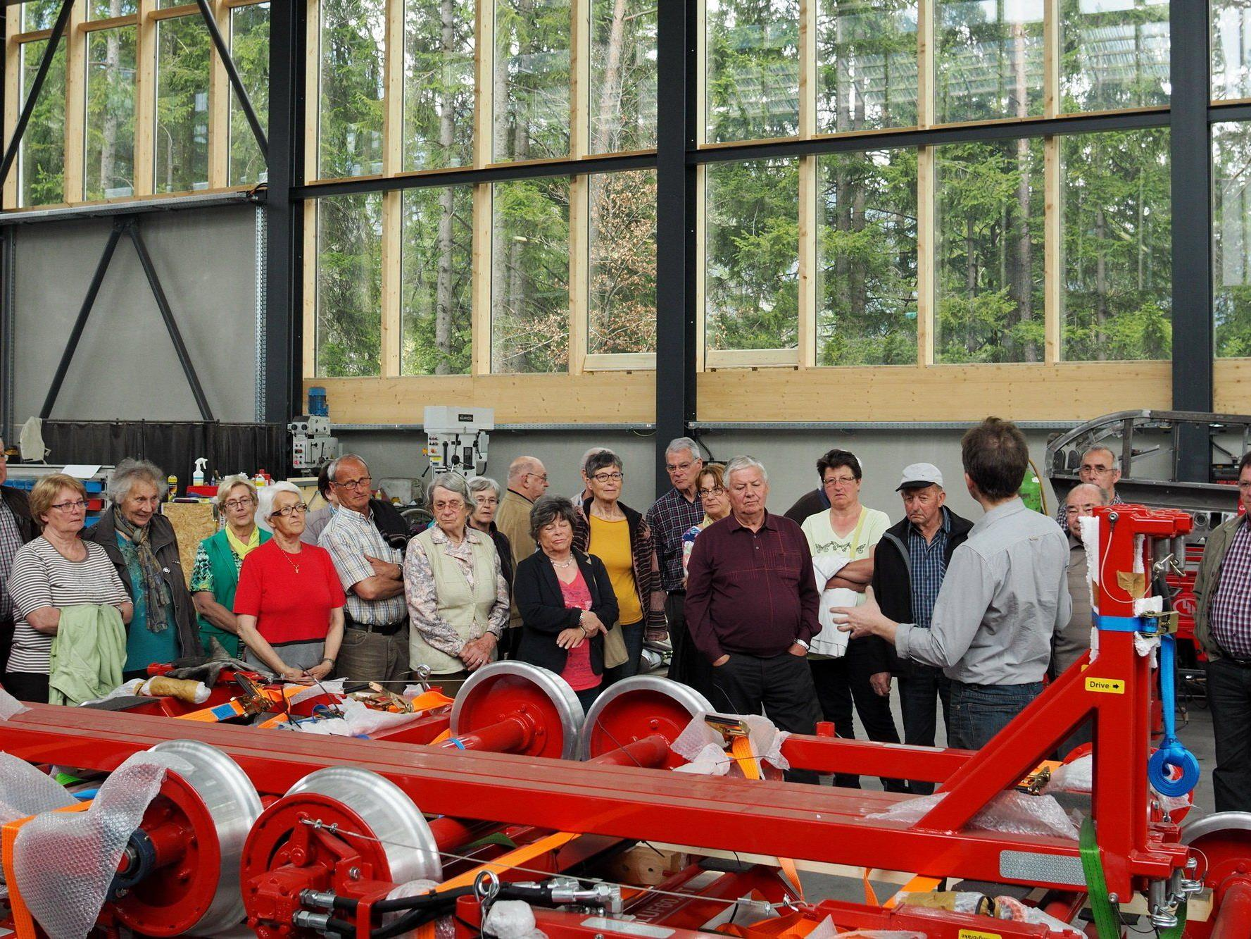 Seniorenbund Ludesch besucht die Firma LUF