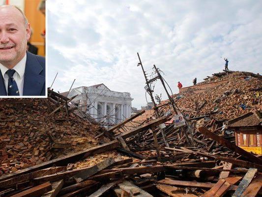 Auch die Hauptstadt Kathmandu ist schwer beschädigt, die Herausforderung für die UNDAC groß.