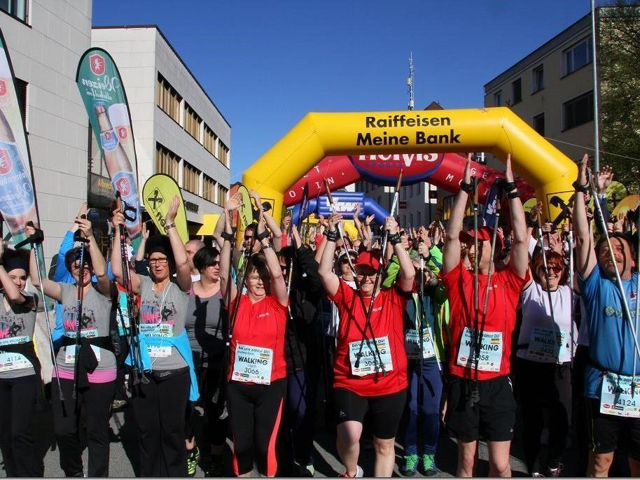 200 Läufer beteiligten sich am ersten VOL.AT City Walk in Bludenz