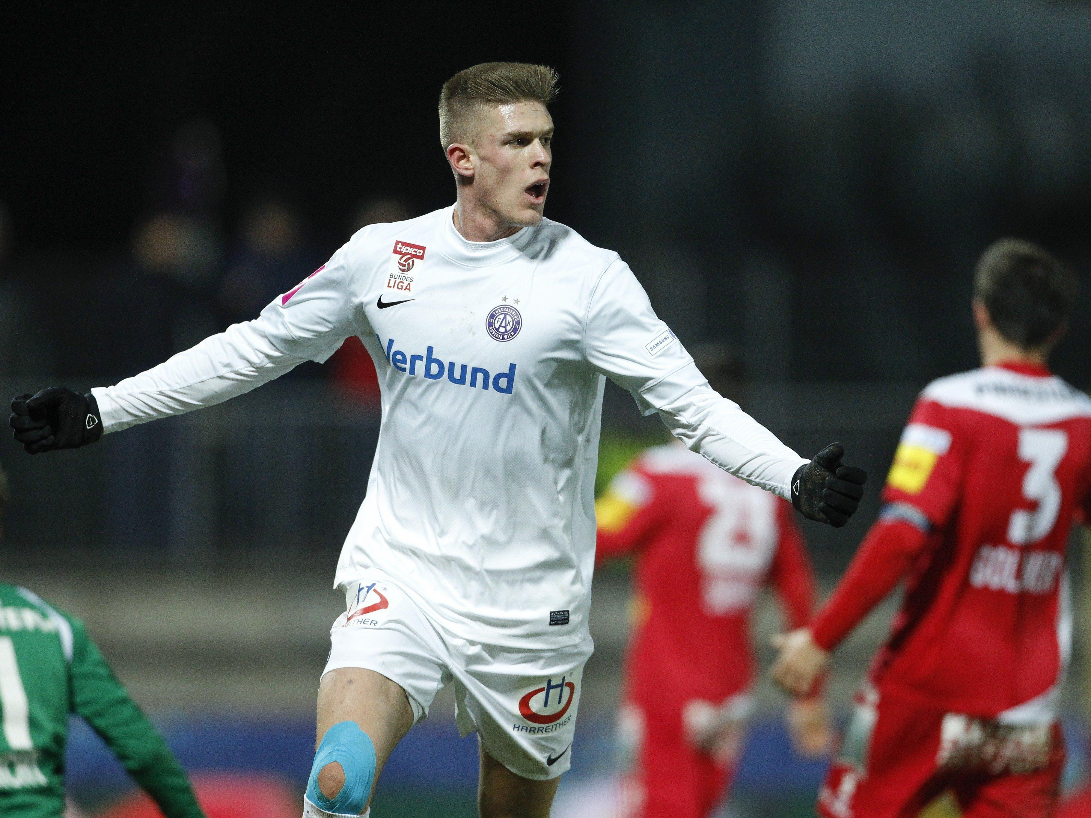 Austria Wien schafft mit einem 2:0-Sieg über Kapfenberg den Aufstieg in das Cup-Halbfinale.