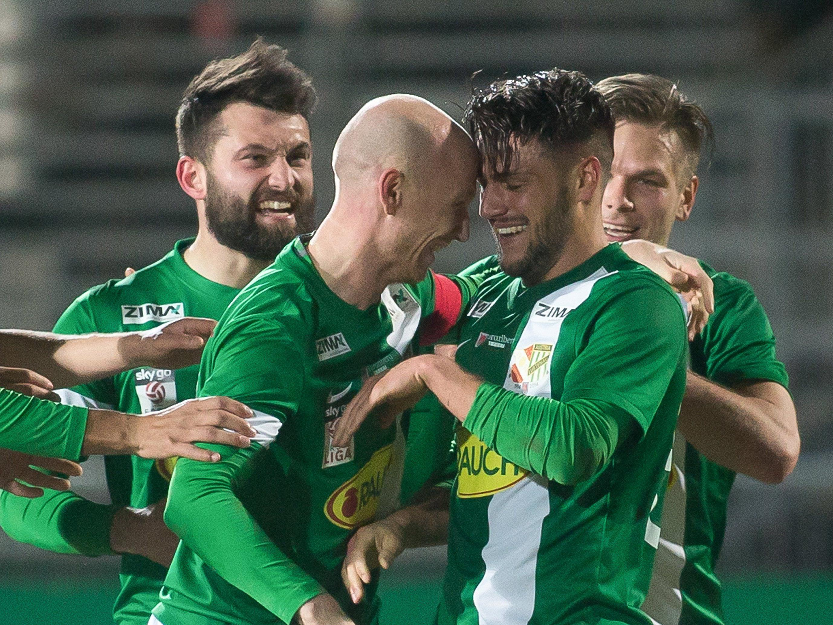 Die Austria-Kicker wollen auch gegen Wacker Innsbrucj wieder Grund zum Jubeln haben.