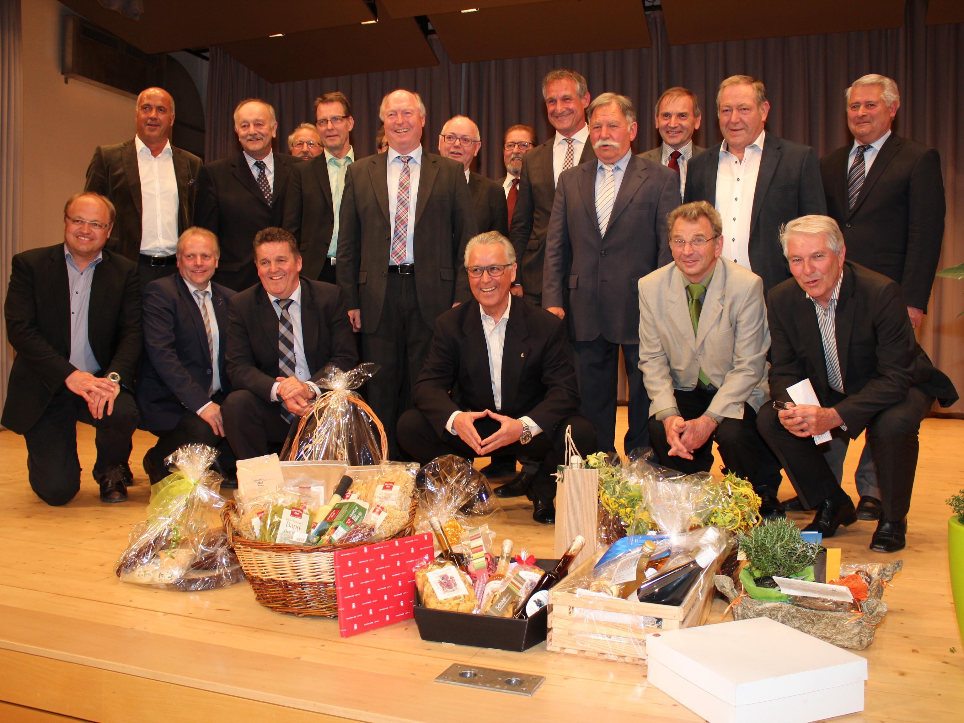 Zum Festakt kamen viele Bürgermeister- und Altbürgermeisterkollegen.