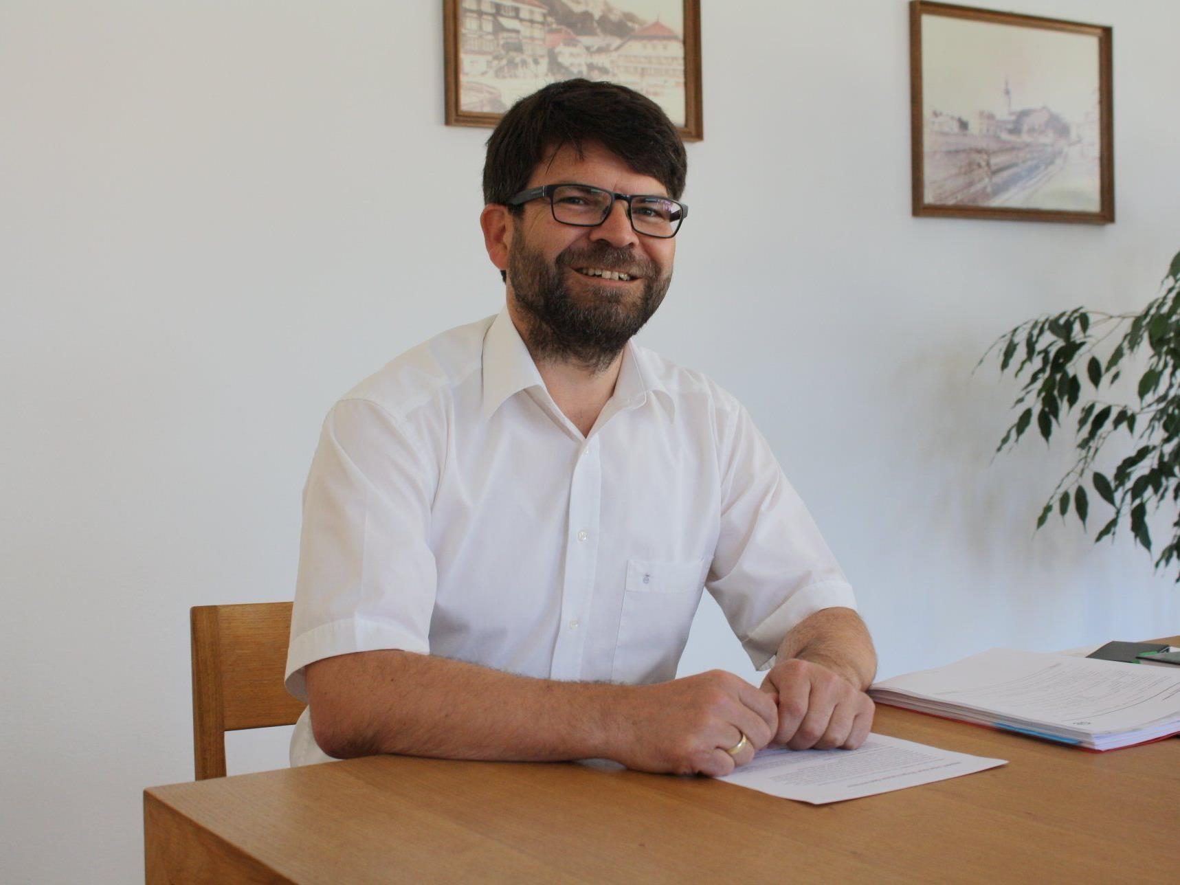 Bürgermeister Gerhard Beer möchte in Hittisau vorhandene Strukturen stärken und Neues fördern.