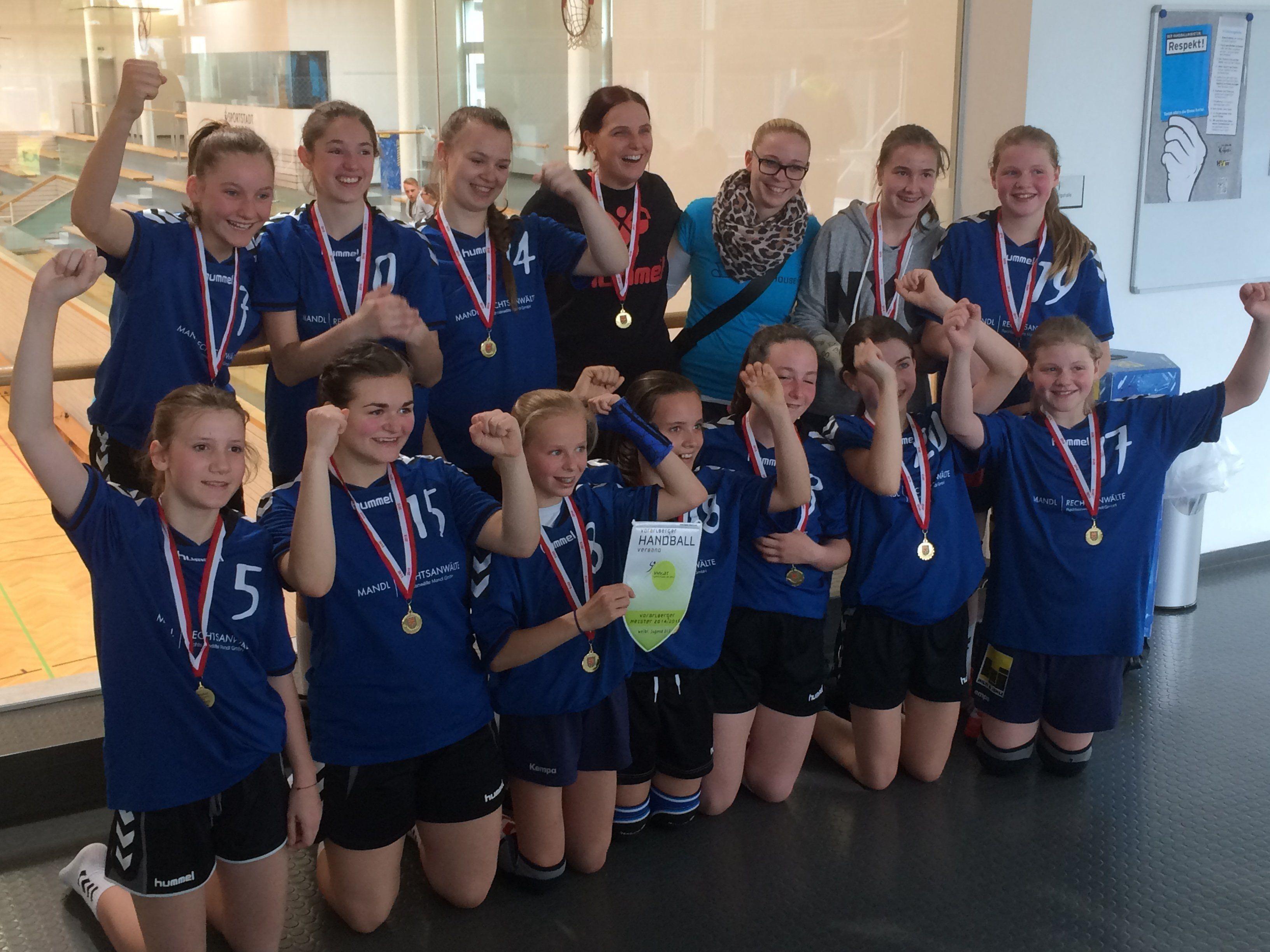 Zwei Landesmeistertitel für die Feldkircher Handballjugend