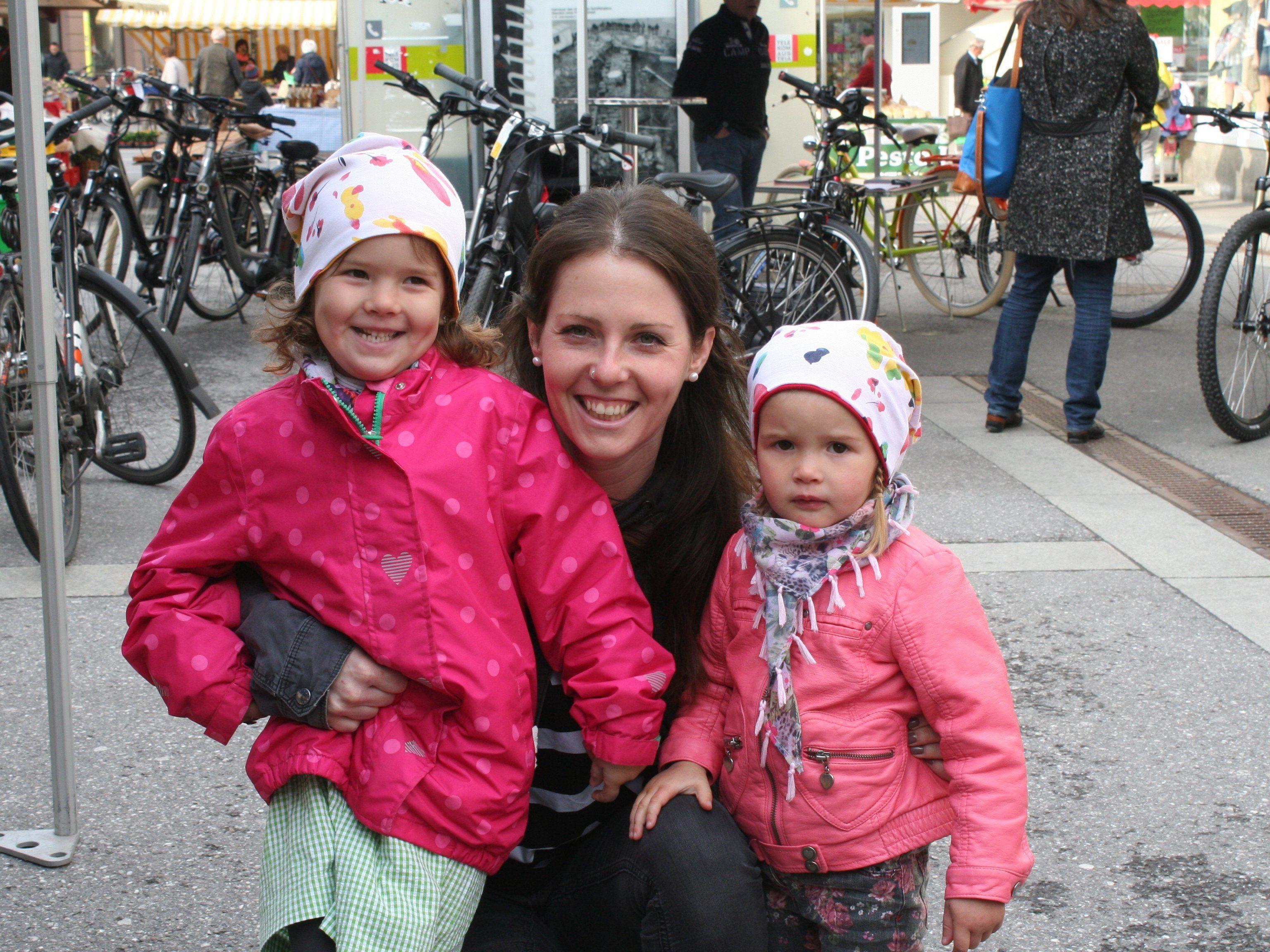 Auch Fam. Mayer kam zum Bregenzer Fahrradmarkt