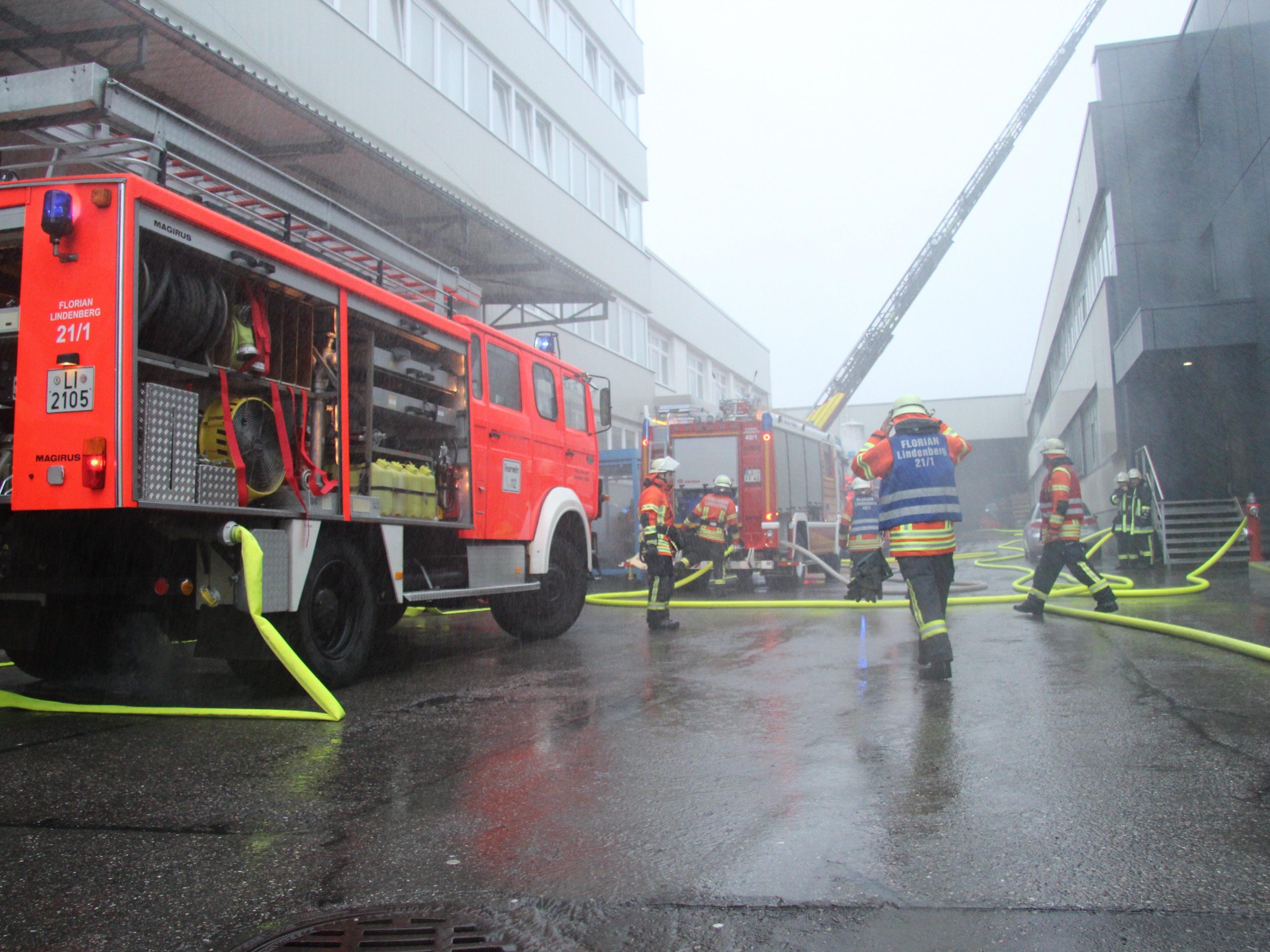 Katastrophenübung bei Liebherr Aerospace.