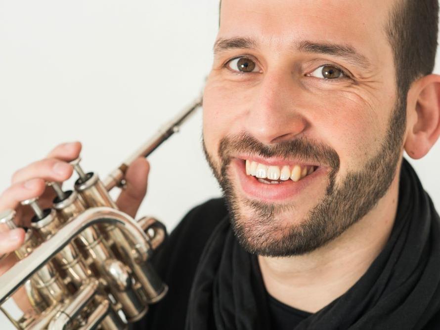 Trompeter Jürgen Ellensohn gastiert am 9. und 10. Mai in seiner Heimat Vorarlberg.