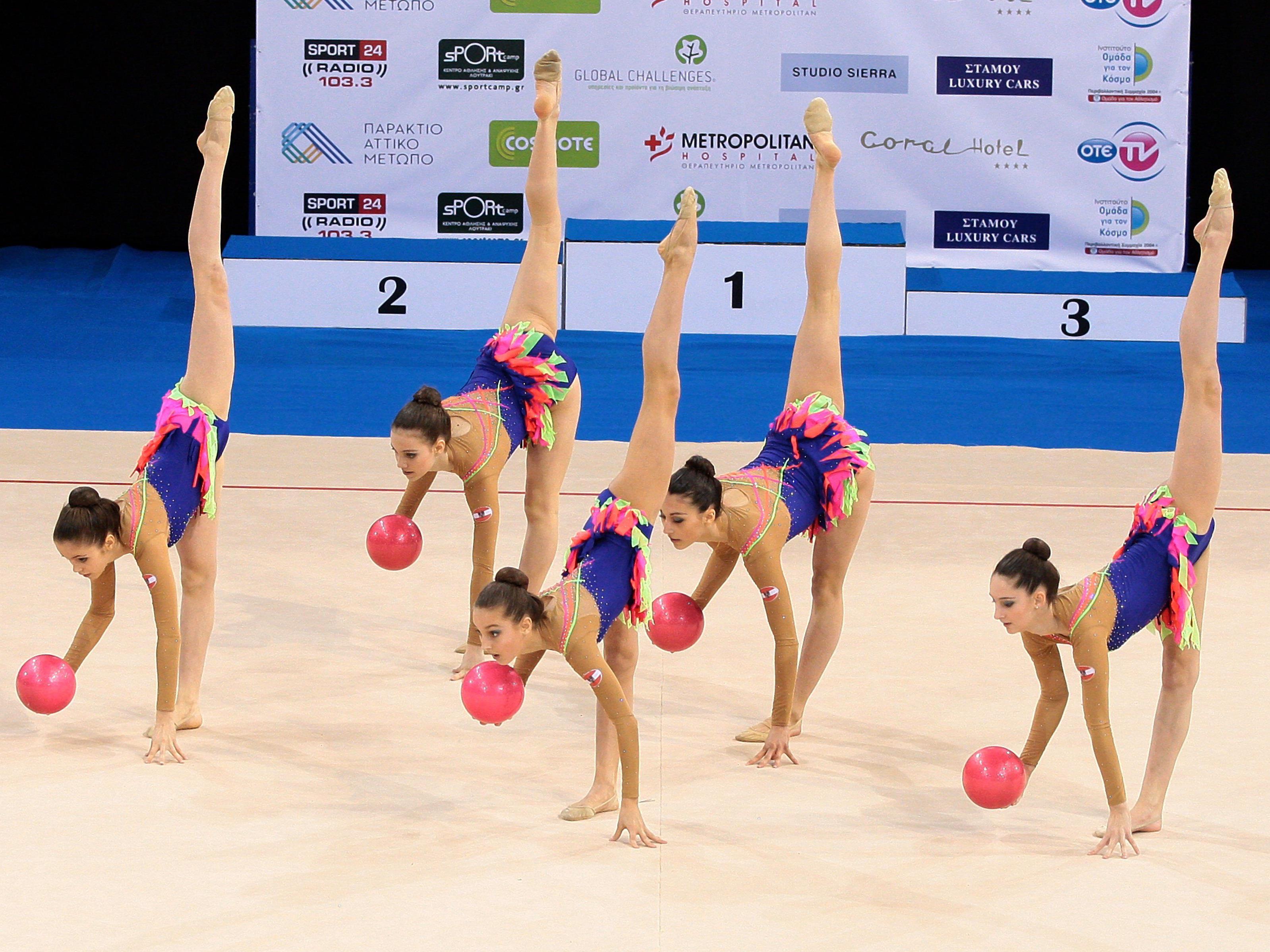 Vier Sportler und eine Funktionärin bei der Gymnastik EM dabei