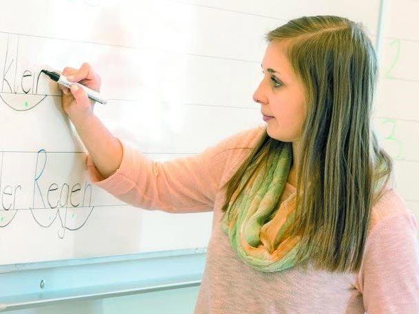 Als Lehrerin in der Volksschule Kirchdorf in Lustenau hat Larissa ihren absoluten Traumjob gefunden.