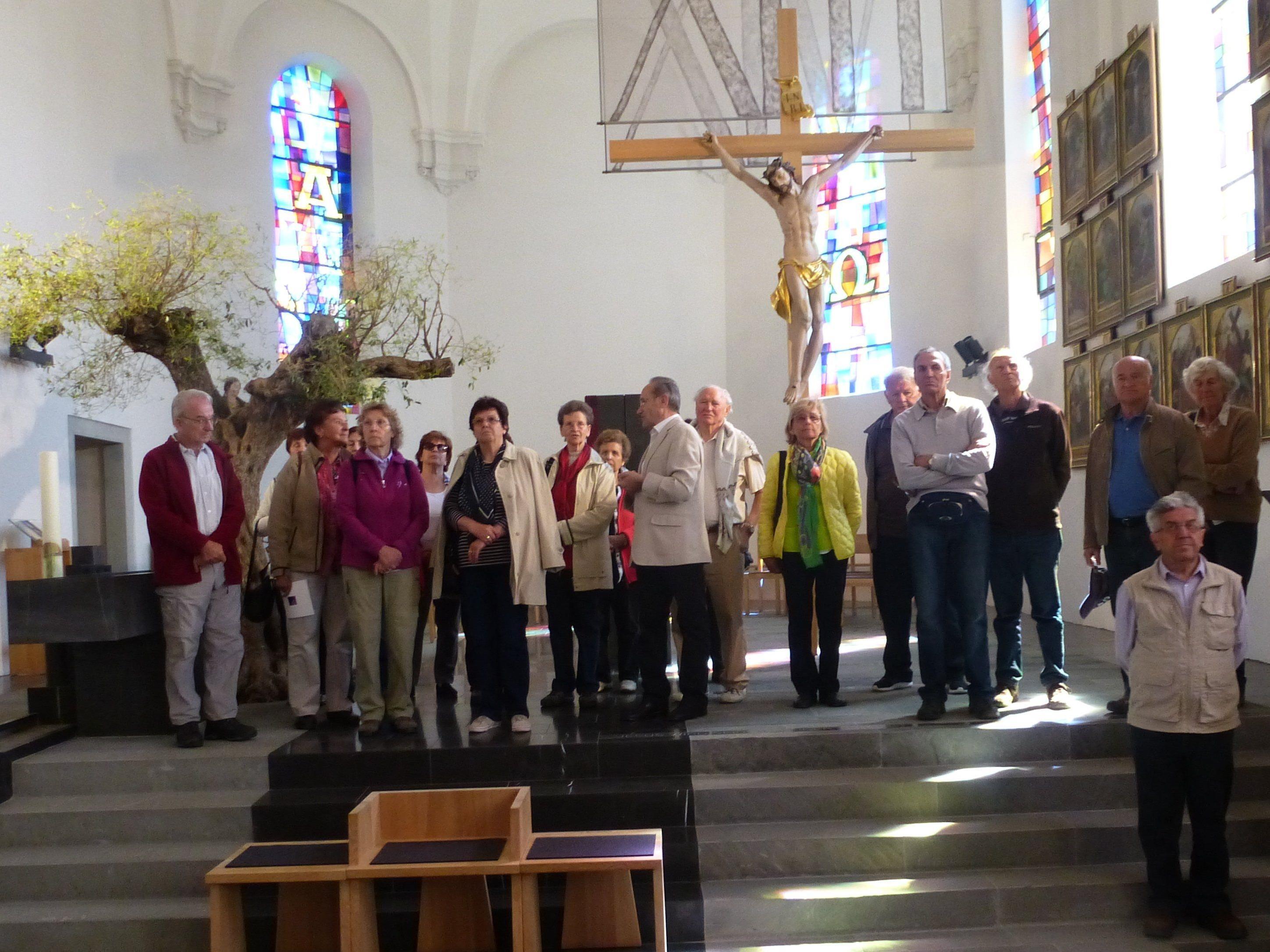 Auf dem Programm stand auch die Besichtigung der Johannes dem Täufer geweihten Pfarrkirche in Lingenau.