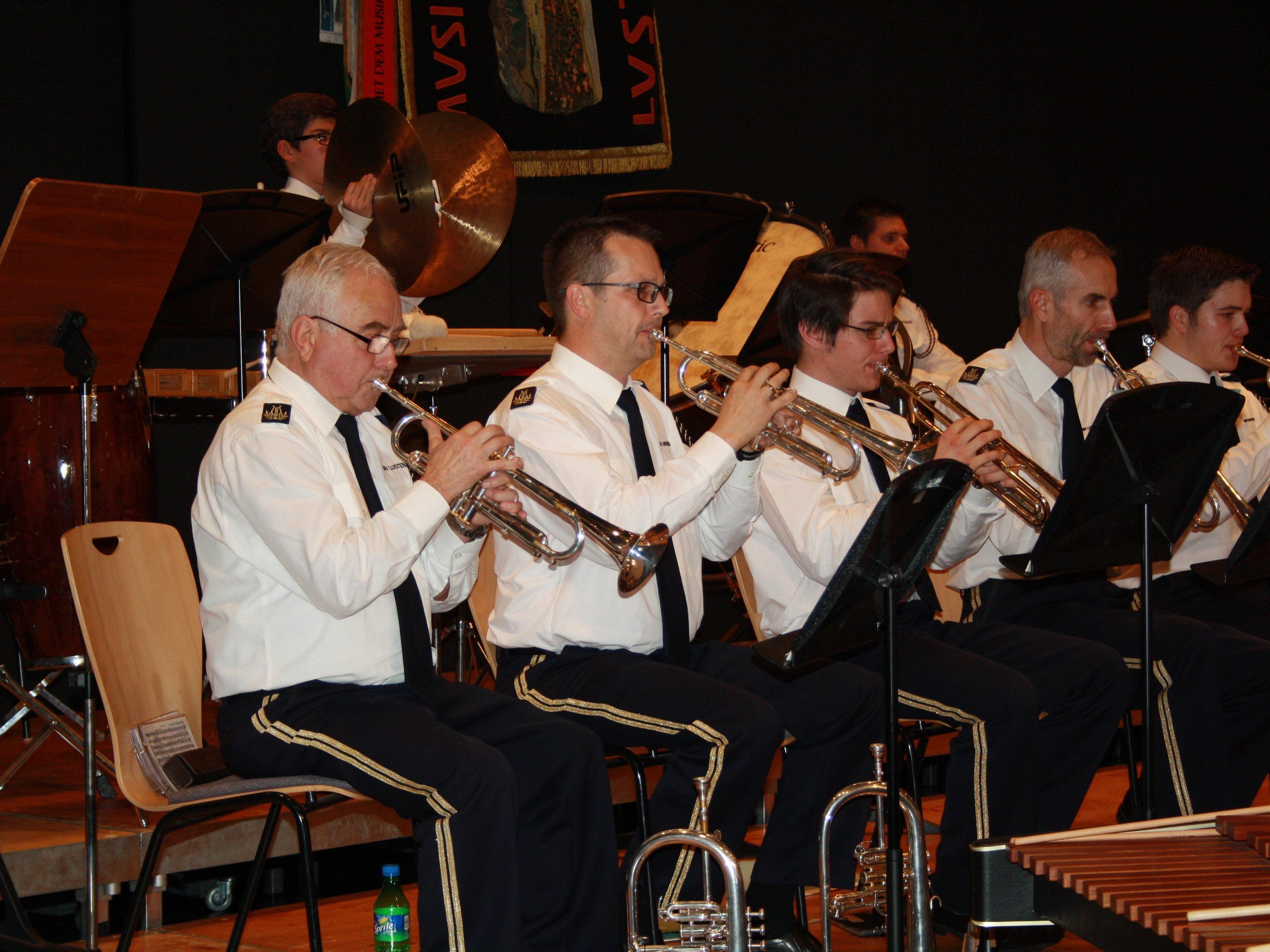 Stimmungsvolle Blasmusik im Reichshofsaal präsentierte der MV Lustenau