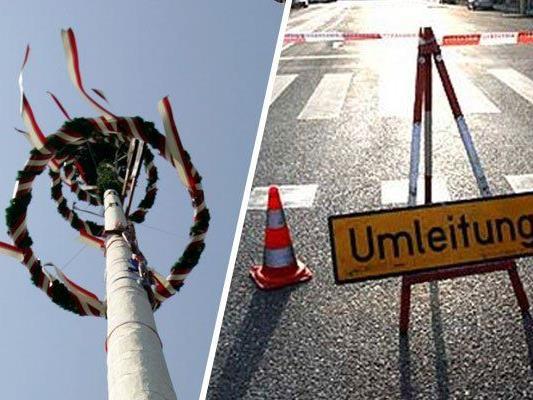 rund um den 1. Mai stehen Verkehrsbehinderungen bevor