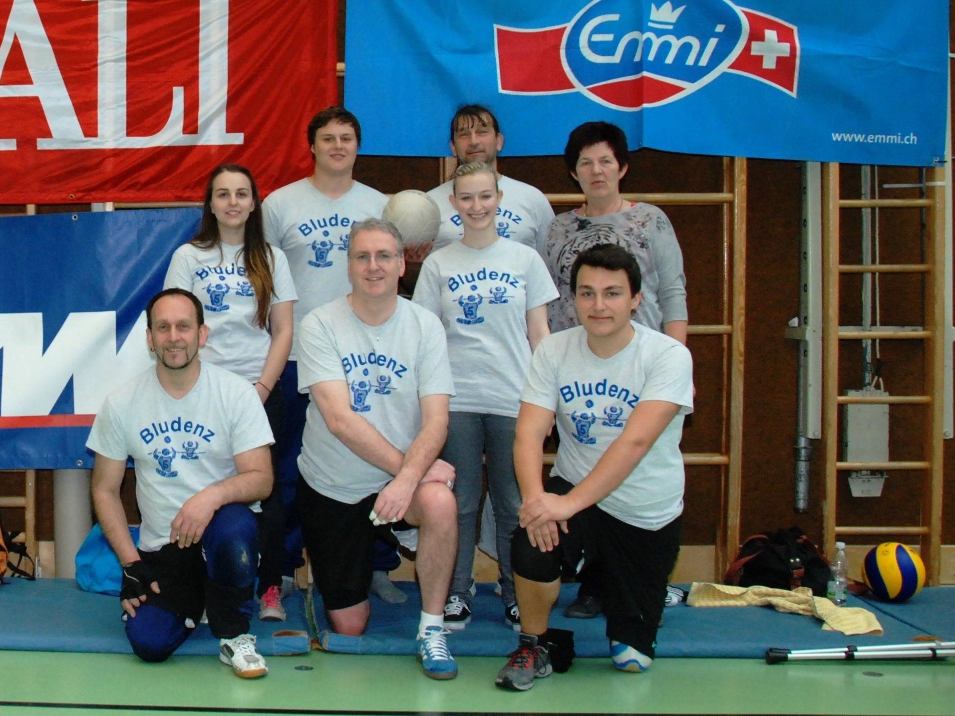 Die Bludenzer Sitzball Mannschaft