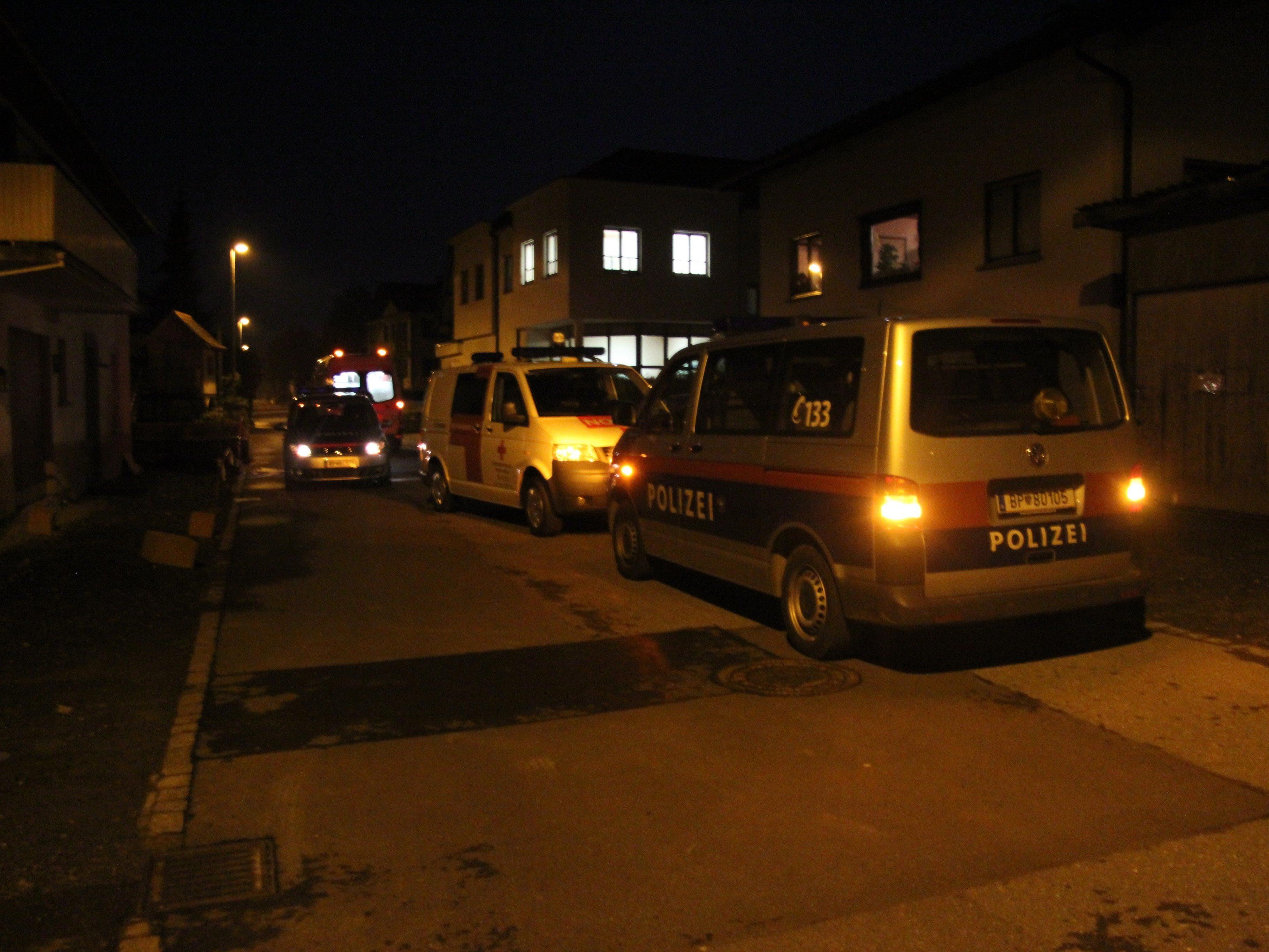 Ein GRoßaufgebot der Polizei rückte an um nach den vermeintlichen Tätern zu suchen.