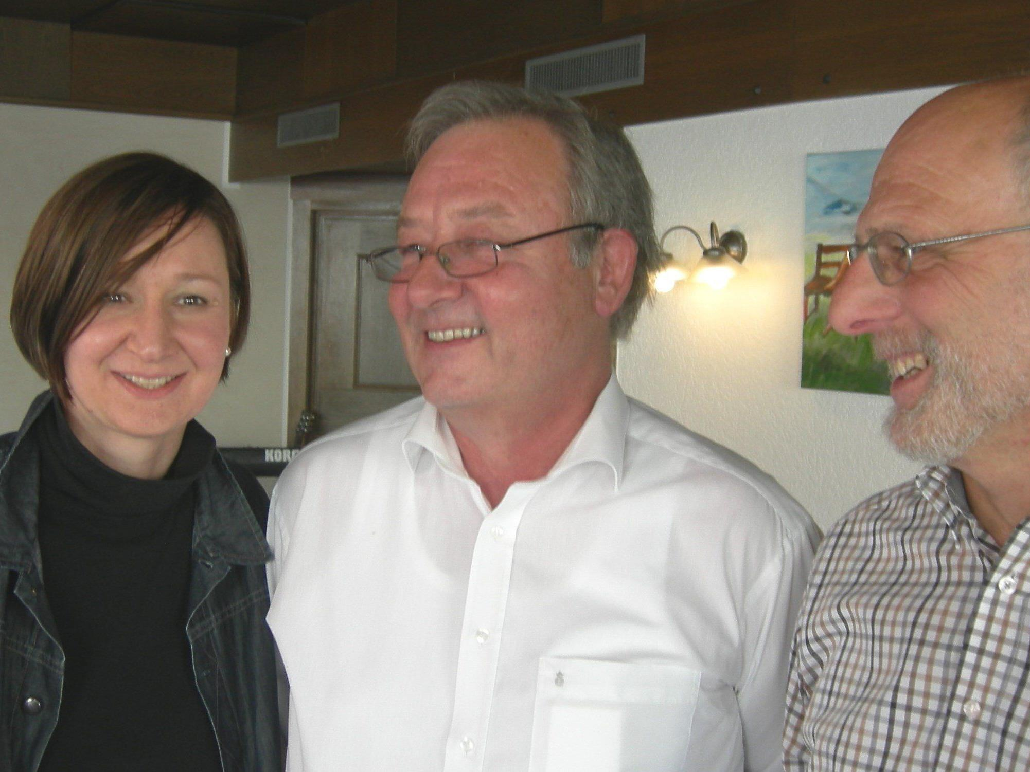 Der neue VCL-Vorstand, vlnr: Angelika Batlogg, Markus Hämmerle, Wilfried Reiter